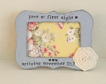 Ultrasound frame baby shower gift gift for dad love at first sight personalized frame newborn pregnancy gift - Flowers in December Design St