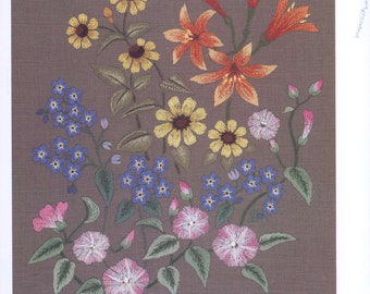 43 Flower Embroidery Patterns - Japanese embroidery - Wild Flowers - Embroidery Patterns - japanese book - ebook - PDF - instant download