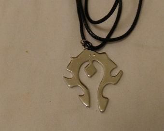Free Shipping World of Warcraft Horde Necklace, Horde Symbol Necklace, World of Warcraft Necklace
