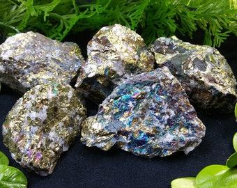 Natural Rough Raw Pyrite in Quartz Specimens