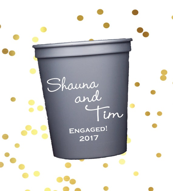 Wedding personalized plastic cup, Wedding stadium cups, engagement party, reception favors, reception cups, wedding shower favor