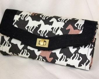 Wild Horses Clutch Wallet