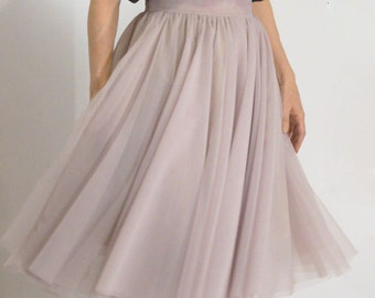 Women Tulle Skirt/Tutu Skirt/Princess Skirt/Skirt/ short Skirt/Light Gray Skirt/Light Gray Tutu Skirt/Ballet Skirt/Grunch Skirt/F1094