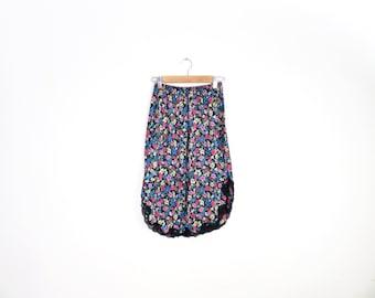 Vintage Floral Grunge Half Slip Size M