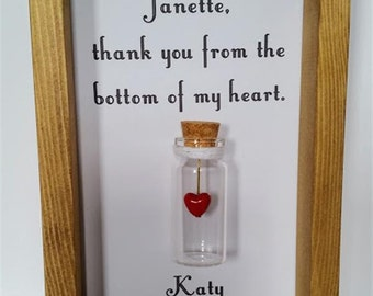 Custom thank you gift, Thank you gift, Personalised thank you gifts, Thank you. Add names or your own message.