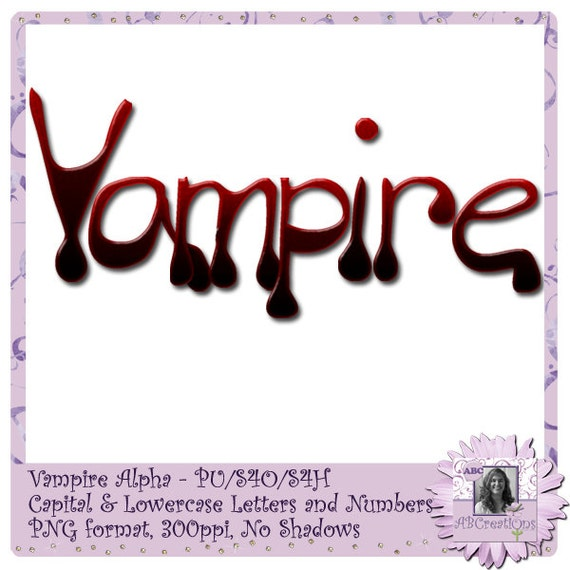 Vampire Alphabet, Font, Text, Halloween, Scary, Blood, Bloody, Dripping, Drips, Dracula