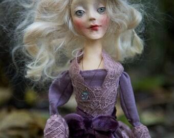 Unge, handmade OOAK art doll