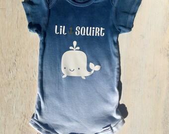 Lil Squirt Onesie, Whale Onesie, Nautical Onesie