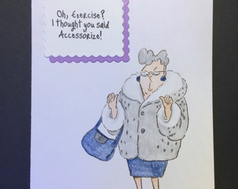 Funny Handcrafted Card