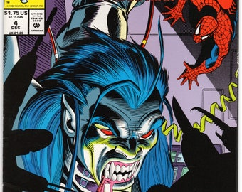 Morbius the living vampire #4 Vs Spider-Man Marvel Comics December 1992