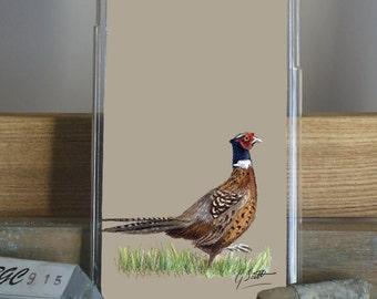 Pheasant Walking Phone Case by Grace Scott