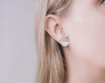 Sirvile | Folded Sterling Silver Minimalist Studs Earrings