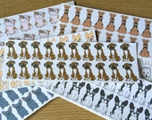 Boxer Paper Stickers - Suitable for Envelopes - Planners - Calenders - Cards - Scrap-booking - Decorative - Dog - Filofax - Scrapbooking