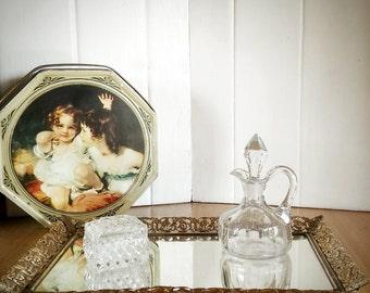 Vanity Mirror, Bathroom Mirror, Vintage Mirror, Wall Mirror, Makeup Mirror, French Mirror, Decorative Mirror, Gold Filigree