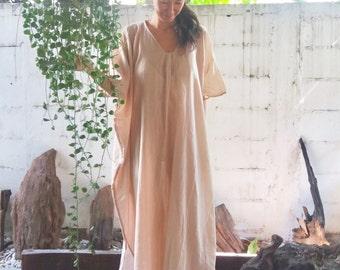 Beach Kaftan Dress Dream Light Sand/Oversize Kaftan/Beach Cover Up/Kaftan/Beach Kaftan/Caftan/Maxi Dress/Boho Dress/Nightgown/Resort Dress