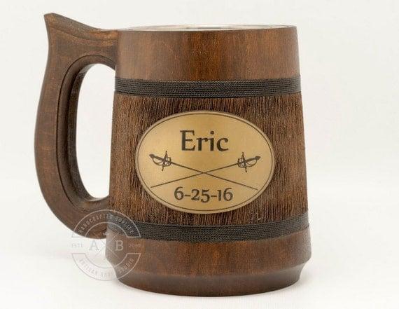 Cheap groomsmen gifts. Beer mug. Wooden tankard. Groomsmen gift idea ...