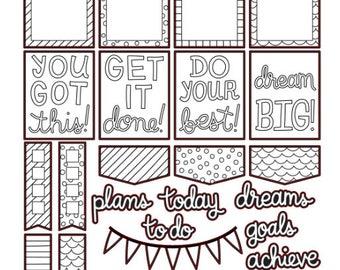 Colour Me Stickers , 26 piece set , Journals , Calendar , reminder , Labels , appointments , dates , Flowers , Hearts , Bloom , Stars