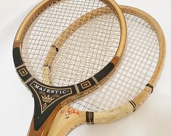 Wood Tennis Racket, Vintage Wood Tennis Racket, Sports Decor for Boys Room