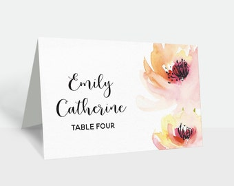 Wedding Name Card, Wedding Place Cards, Name tags, Escort card, Name Template PDF, Instant Download