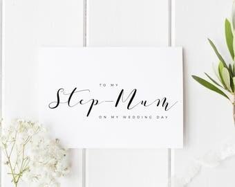 To My Stepmum On My Wedding Day, Stepmom Wedding Day Card, Step Parents Wedding Card, Step Mom Wedding Day, To My Parents On My Wedding Day
