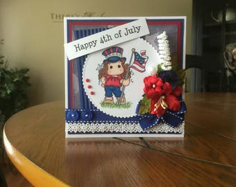 Happy 4th of July Handmade Greeting Card