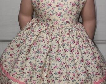 Handmade-American Girl Doll Dresses-18 Inches-Little Flowers Dress.