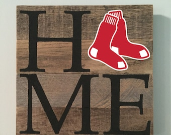 Boston Red Sox HOME Sign  // Custom // Gifts for Her // Gifts for Him // Wedding // Pallet // Red Sox // MLB