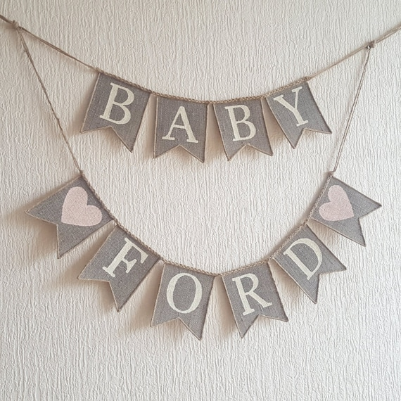 burlap baby banner baby banner baby shower banner baby shower