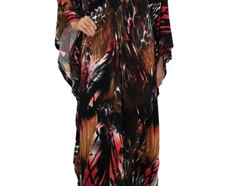 Plus Size Maxi Kaftan Dresses Wedding Party Dress