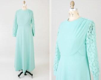 Vintage 70s Dress / Vintage 1970's Dress / Vintage Clothing / 70s Clothing / Vintage Maxi Dress / 70s Dress / 1970s Vintage Dress / Medium M