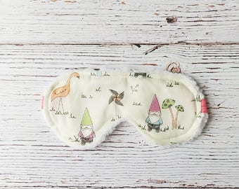 Sleep Mask - Gnome Gifts - Sleeping Mask - Birthday Gifts - Travel Sleep Mask - Gifts Under 20 - Slumber Party - Gifts for Her