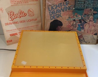 Barbie Light Up Drawing Desk, Lakeside, 1974, Working