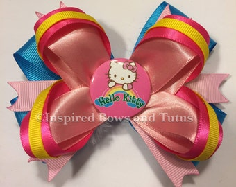 Hello Kitty Rainbow Inspired Hair Bow