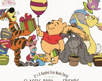 Pooh & Friends - A Hundred Acre Wood Party!; 300 PPI Transparent PNG Clipart