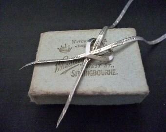"""Vintage love heart - Love knot necklace - 925 - sterling silver - Vintage - 18"""""""