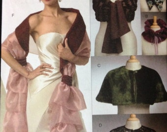 Vogue V8348 - Evening Collars, Capelets and Wraps Accessory Collection