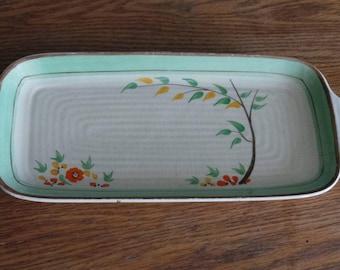 Vintage Art Deco plate  - wilkinson ltd sandwich plate.