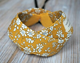 Flowers Camera Strap - Mustard DSLR Camera Strap -  Photography Accessories - Liberty of London Strap with Cap Pocket - Tana Lawn Capel G