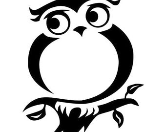 DIY Owl On Branch Vinyl Decal, Nature Lover, Laptop Decal, Tablet Decal, Car Window, Drinkware, Wall Decal, Cell Phone Decal, Yeti Cup Decal