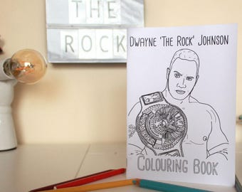 Dwayne Johnson Colouring Book