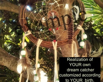 Custom dream catcher - Natural - Traditional