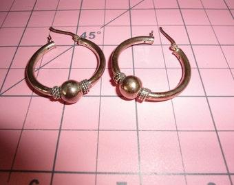 Sterling Silver, Silver Earrings, Earrings, Jewelry, Gift For Her, Hoop Earrings, Silver Hoop Earrings, Gift for Her, Art Deco, Silver Balls