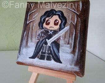 Jon Snow (Game of Thrones) - Small painting
