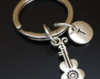 Ukulele Keychain, Custom Keychain, Custom Key Ring, Ukulele Pendant, Ukulele Charm, Ukulele Jewelry, Ukulele Instrument, Ukulele Guitar