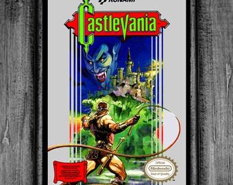 Castlevania Nintendo Box Art Print Poster