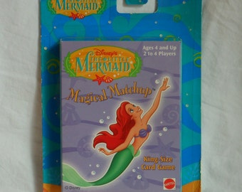 1990s Disney The Little Mermaid Magical Matchup Card Game   King Size        For Ages 4 and Up