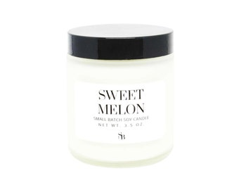 Melon Soy Candle - Best Scented Candles - Honeydew Candle - Soy Candles Handmade - Honeydew Melon - Sweet Soy Candle - Fruity Scent