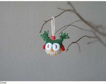 New Year Gift Christmas Owl Tree Ornament Gift for Friend Crochet Owl Charm Christmas Gift for Owl Lovers Funny gifts Owl Cool Decoration