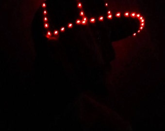 LED Hat - 85+ Super Bright Micro LEDs! Light Up Glow Hat by Twisted Glow - LED Glow Party Hats