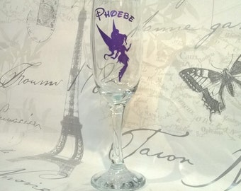 Disney Fairies - Fairy Vidia - Personalised Wine Glass Champagne Glass - Gift Boxed Gift For Her Disney Glass Disney Gift Fairy Glass Gift